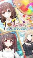 Screenshot 1: Love is a Canvas : Anime Girlfriend Game