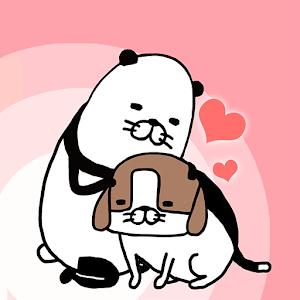 Icon: パンダと犬 どこでも犬かわいーぬ