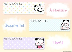 Screenshot 3: Sticky Note Mochimochi Panda