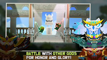 Screenshot 2: Marimo League : Be God, show Miracles on battles!