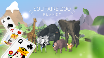 Screenshot 1: Solitaire Zoo Planet