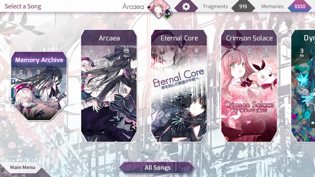 Screenshot 4: Arcaea