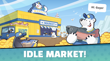 Screenshot 1: Idle Penguin Market
